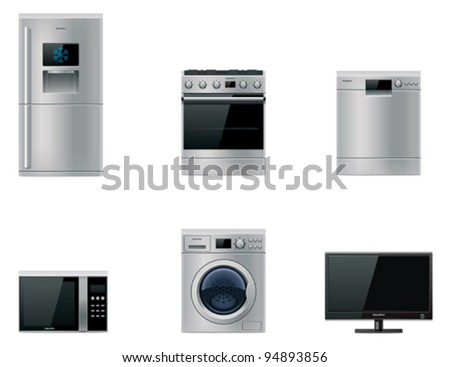 Vector major appliances set - stock vector