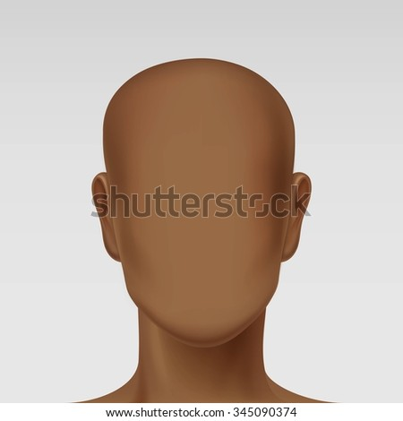 Vector Male Face Avatar Profile Head Icon Picture Isolated on Background