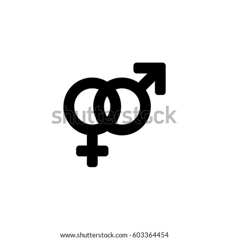 Vector male   female icon set  Toilet sign  The white on a black background. Vector Man Woman Icons Toilet Sign Stock Vector 434816440
