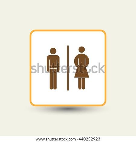 Vector man and woman icons  toilet sign  restroom icon  minimal. Restroom Banco de im genes  Fotos y vectores libres de derechos