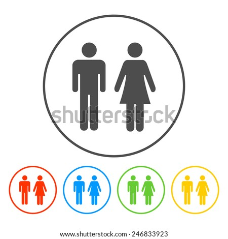 Bathroom Sign Vector Style men and women toilet sign stock images, royalty-free images