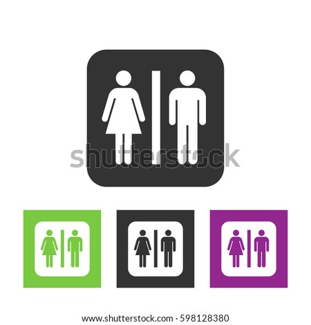 Vector man and woman icons  toilet sign  restroom icon  minimal style   pictogram. Male Female Restroom Symbol Icon Stock Vector 151453883   Shutterstock