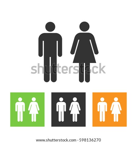 Bathroom Sign Vector Style restroom stock images, royalty-free images & vectors   shutterstock