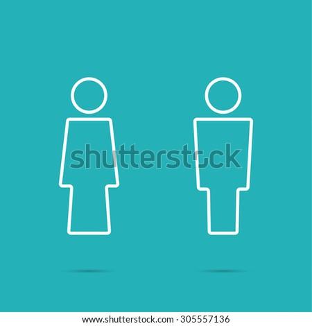 Bathroom Sign Vector Style vector man woman icons toilet sign stock vector 305557136