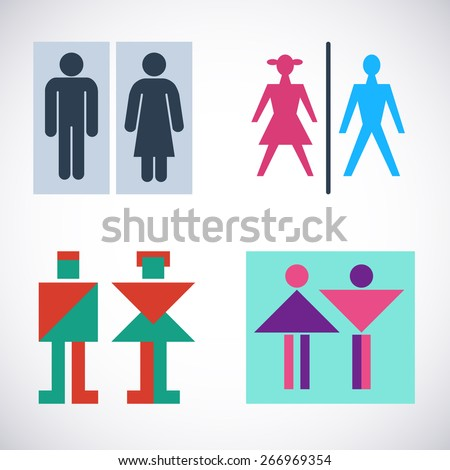 Bathroom Sign Vector Style bathroom signage stock images, royalty-free images & vectors