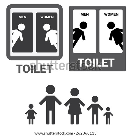 Public sign stock images royalty free images vectors shutterstock Men women bathroom signs