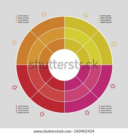Vector management process diagram / schema / database - stock vector