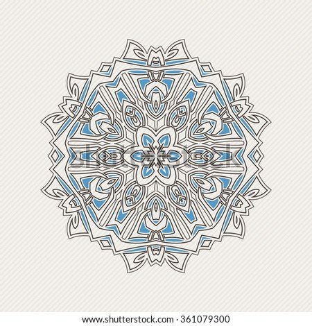 Vector mandala. Gothic lace tattoo. Celtic weave with sharp corners. The circular pattern. - stock vector