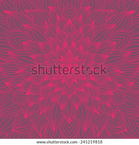 Vector mandala ornament - stock vector
