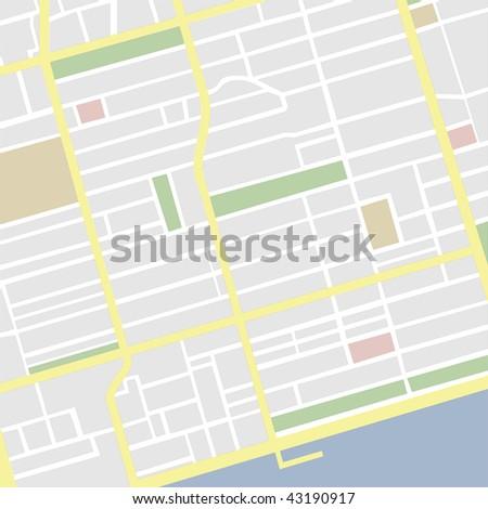 vector map - stock vector