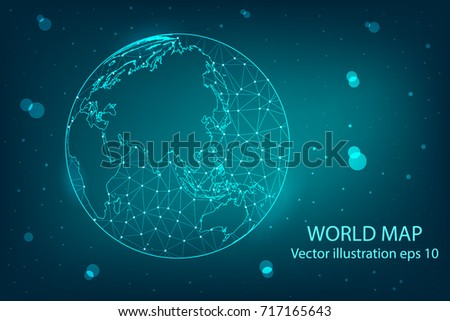 Vector map abstract mashpolygonal line scales stock vector 717165643 vector map abstract mashpolygonal line and scales on dark background with map of gumiabroncs Image collections