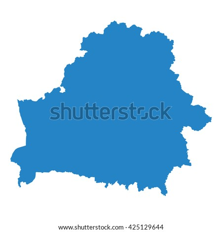 vector map Belarus, blue color. - stock vector
