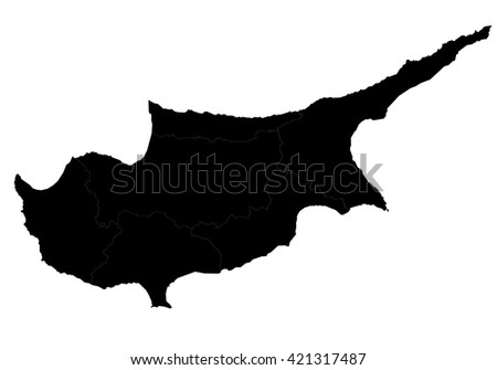 Vector map-cyprus country on white background.