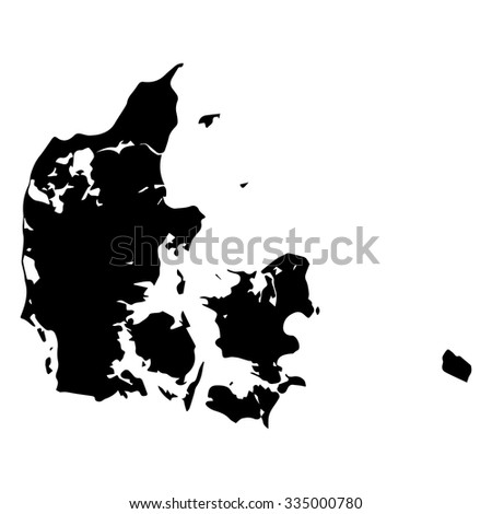 Vector map - Denmark - stock vector