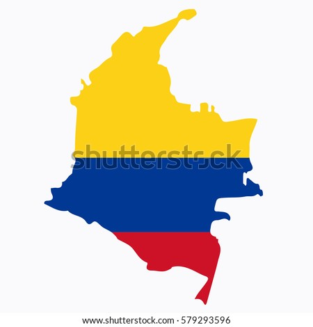 Vector Map Flag Columbia Stock Photo Photo Vector Illustration