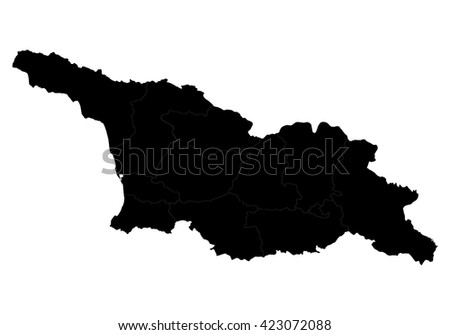 Vector map-georgia country on white background.