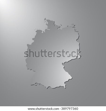 Vector map Germany. Gray background with gradient. Isolated vector Illustration. Gray on Gradient background. With shadow. EPS Illustration. - stock vector