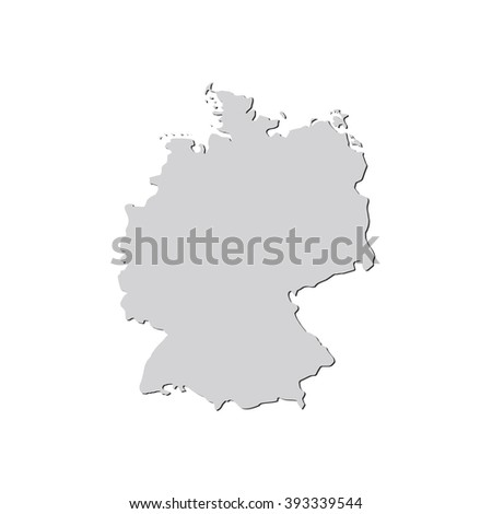 Vector Map Germany Isolated Vector Illustration Stock Vector - Germany map eps