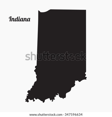 Vector map. Indiana. Gray Vector Illustration - stock vector