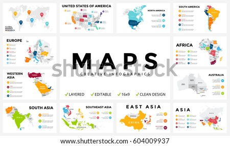 Vector map infographic. Slide presentation. Global business marketing concept. Country world transportation infographics data. Economic statistic. World, America, Africa, Europe, Asia, Australia, USA