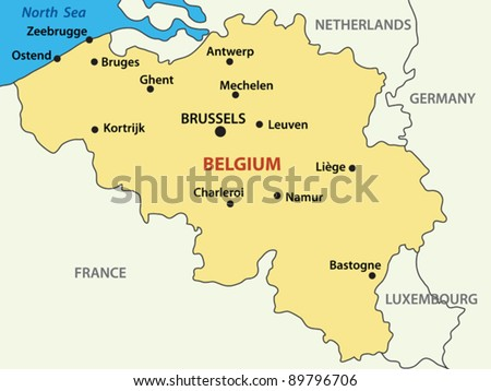 vector map - Kingdom of Belgium.