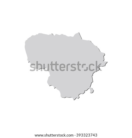 Vector Map Lithuania Isolated Vector Illustration Stock Vector - Lithuania map vector