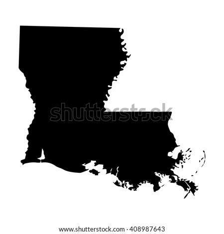 vector map louisiana isolated vector illustration black on white background eps 8 illustration