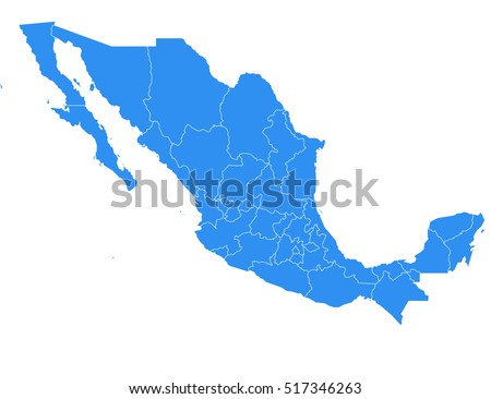 Mexico Map Stock Images RoyaltyFree Images Vectors Shutterstock - Picture of map of mexico
