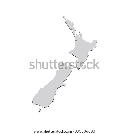 Vector map Netherlands. Isolated vector Illustration. Gray on White background. With shadow. EPS 10 Illustration.
