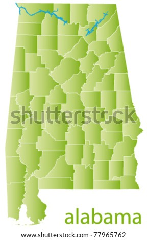 vector map of alabama state