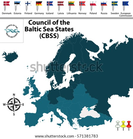Baltic States Map Stock Images RoyaltyFree Images Vectors - Sweden map states
