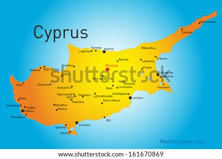 Vector map cyprus country stock vector 161670869 shutterstock vector map of cyprus country gumiabroncs Image collections