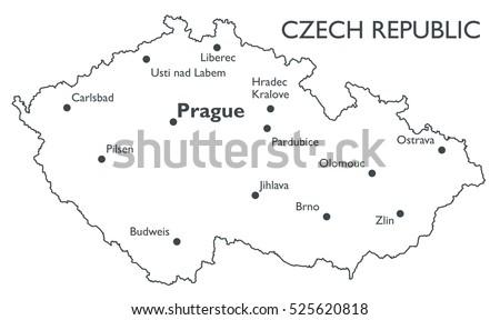Czech Republic Map Stock Images RoyaltyFree Images Vectors - Czech republic map