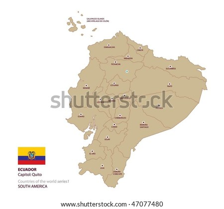 Ecuador Vector Map Vector Map of Ecuador Stock