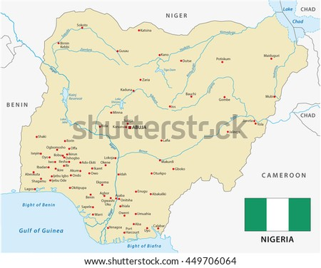 Nigeria Map Stock Images RoyaltyFree Images Vectors Shutterstock - Nigeria map