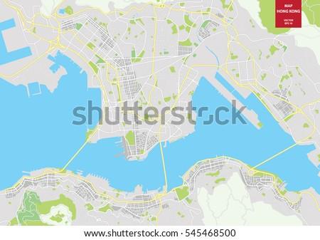 Vector map hong kong china city vectores en stock 545468500 vector map of hong kong china city plan hong kong vector illustration gumiabroncs Image collections