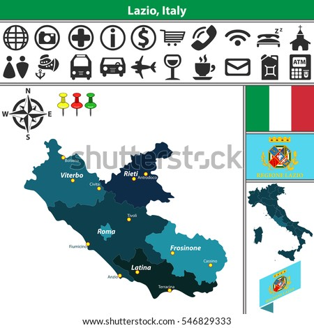 Viterbo Location On The Italy Map