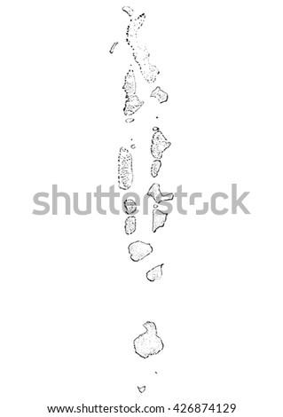 Vector Map Of Maldives