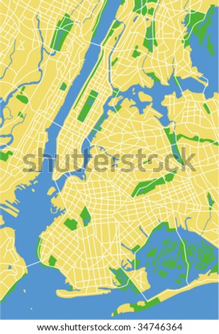 Vector map of new york.