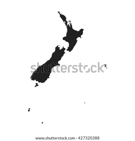 vector map of New Zealand