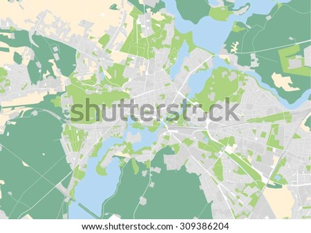 vector map of Potsdam, Germany - stock vector