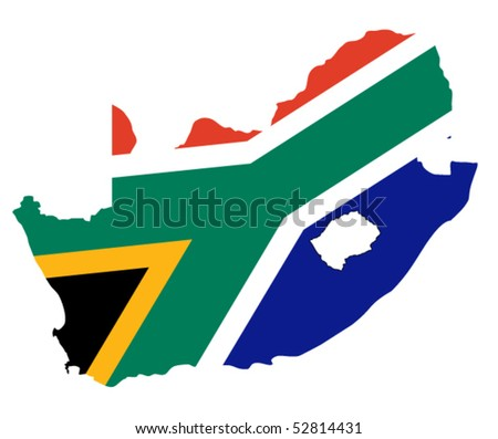 vector map of South Africa - stock vector