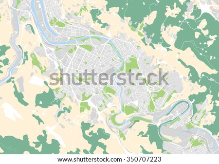 Vector Map City Bilbao Spain Stock Vector 350707223 Shutterstock