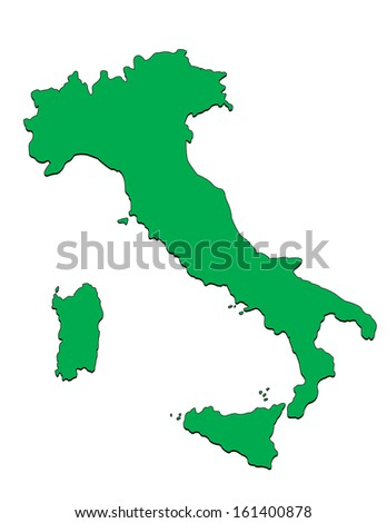 Vector Map of the Country of Italy; Illustrator 8