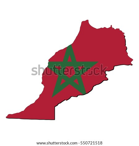 Vector map of the flag of the Morocco