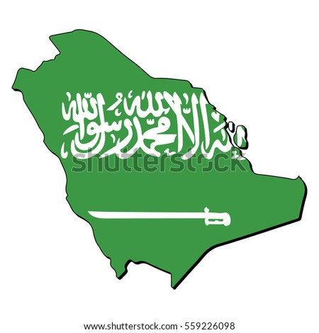 Vector map of the flag of the Saudi Arabia