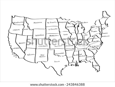 Us Map Outline Globalinterco - White vector map of the us