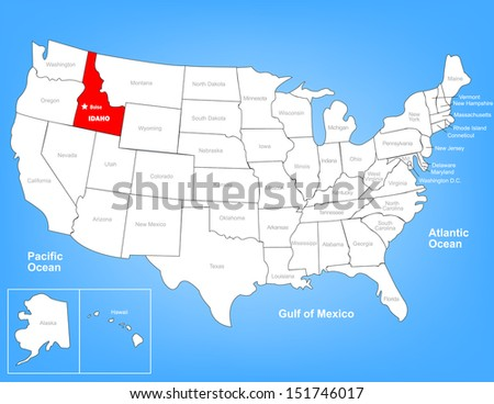 Idaho Map Stock Images RoyaltyFree Images Vectors Shutterstock - Us map idaho