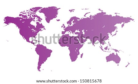 Vector map of the World. - stock vector