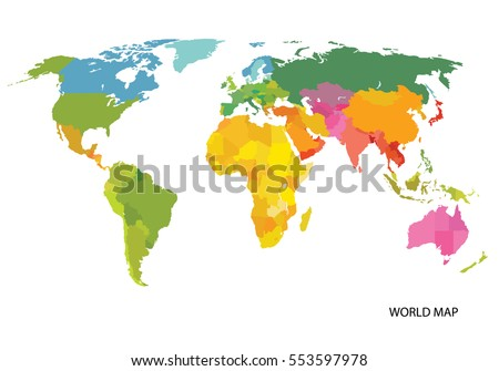 Vector map world countries america eurasia vectores en stock vector map of the world with countries america eurasia australia africa gumiabroncs Image collections